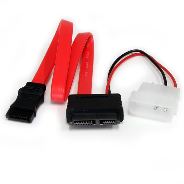 StarTech 30 cm Slimline SATA naar SATA Adapter met LP4 Voedingskabel