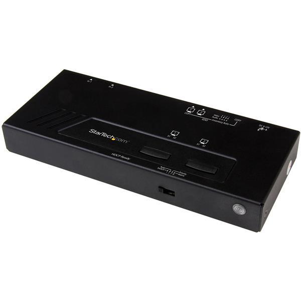 StarTech 2x2 HDMI Matrix switch - 4K met snelschakeling en auto-sensing