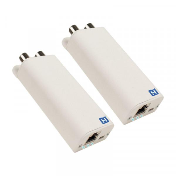 Hirschmann INCA 1G gigabit, Internet over COAX adapter - set van 2 stuks