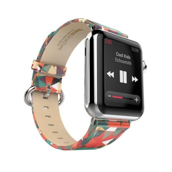 PU leren bandje met print Apple Watch 42/44mm