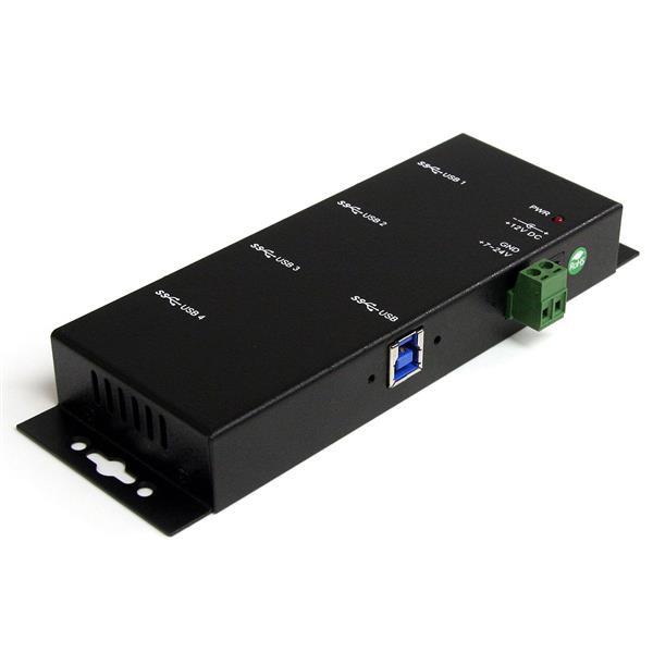 StarTech 4-poorts industriële USB 3.0 Hub - monteerbaar