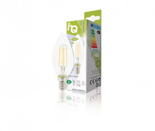 HQ dimbare E14 Retro filament LED kaarslamp 4W warm wit