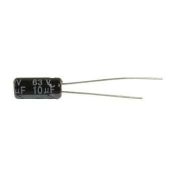 Elektrolytische Condensator 10 uF 63 VDC