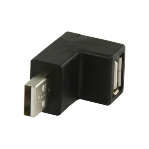 Haakse USB 2.0 A-A adapter, 90 graden