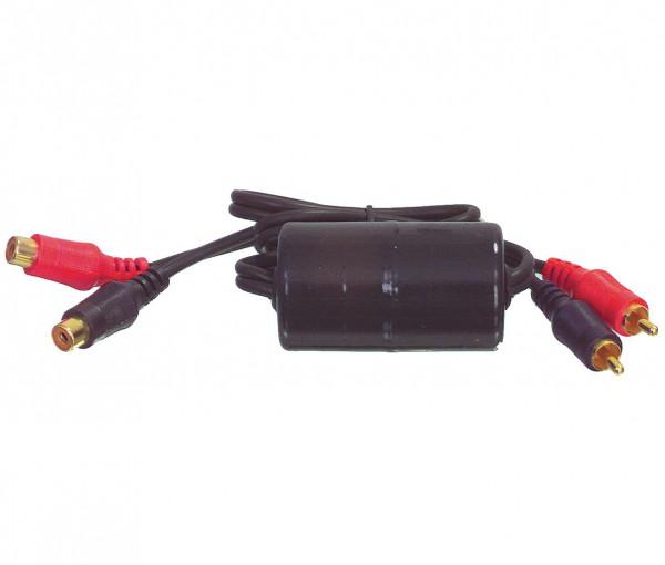 Aardlus isolator voor autoradio
