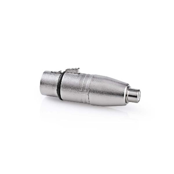 XLR 3-pin (v) - Mono Tulp (v) Adapter - Metaal