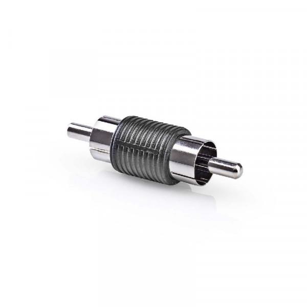 Stereo-Audio-Adapter RCA Male - RCA Male Zwart