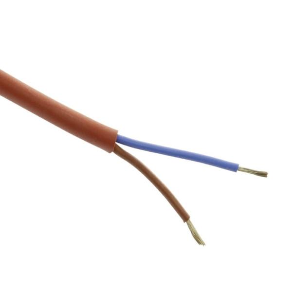 Hittebestendige Siliconenkabel SIHF 2x1mm2 - per meter