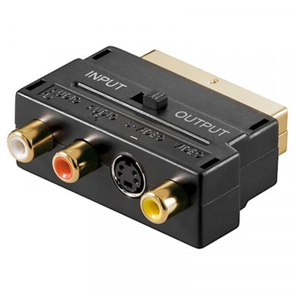 Scart - 3x RCA Composiet Adapter