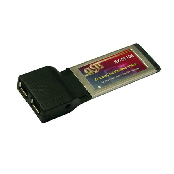 ExpressCard naar 2x FireWire IEEE1394 Poort