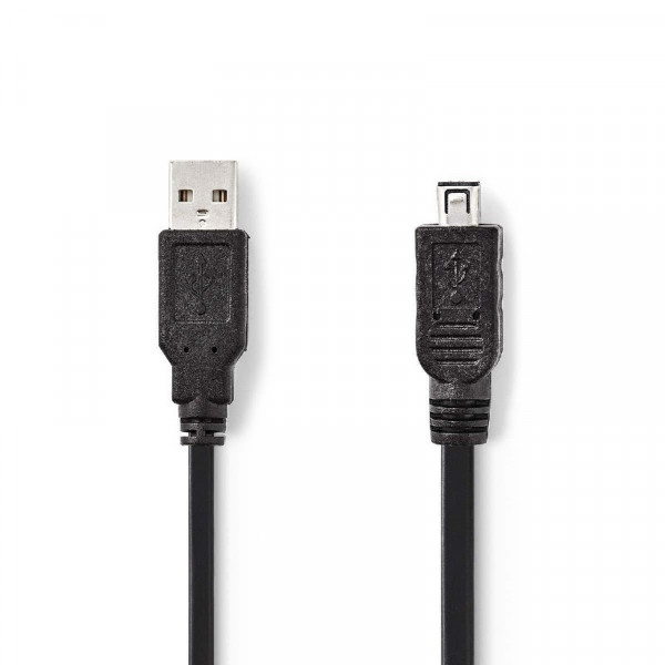 USB 2.0 Aansluitkabel 1,8m Zwart