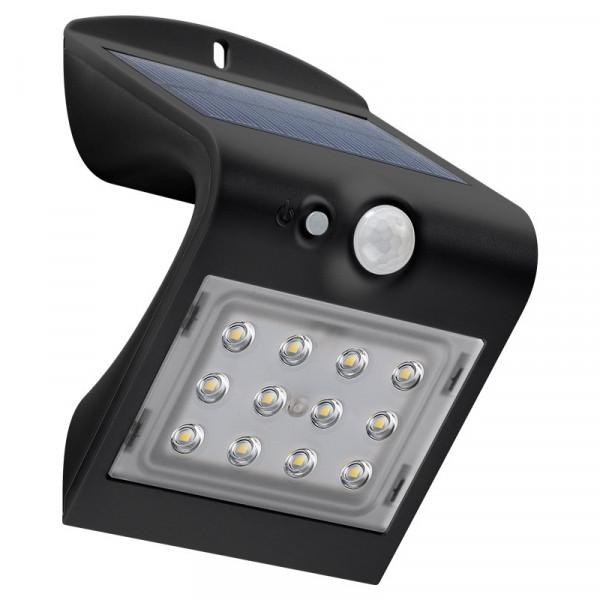 Solar LED Wandlamp voor Buiten 1,5W - Met Bewegingssensor - Zwart