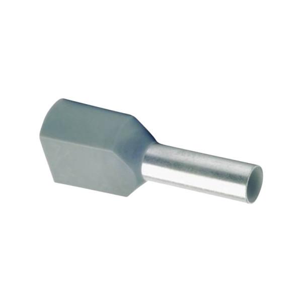 Duo Adereindhuls geisoleerd 4mm² grijs - per 100 stuks