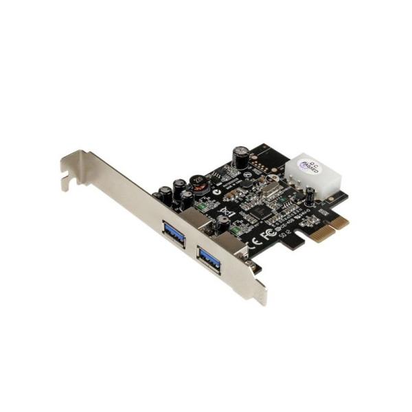 StarTech 2-poorts PCI Express (PCIe) SuperSpeed USB 3.0-kaartadapter met UASP - LP4-voeding