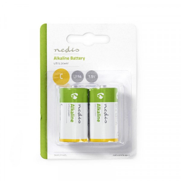 Alkaline C batterij 1,5V LR14 2 stuks