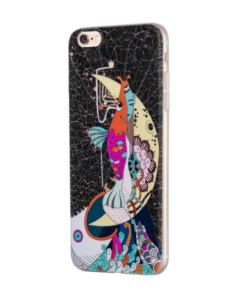 Hoco Mythology Mermaid case voor iPhone 6/6s Zwart