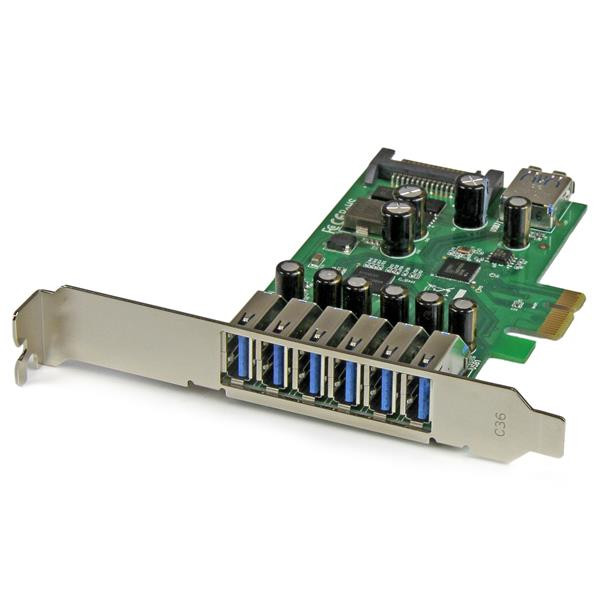 StarTech 7-poorts PCI Express USB 3.0 kaart - standard en low-profile design