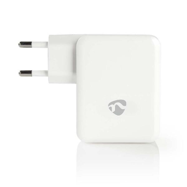 Lader 3 - Uitgangen 4.8 A 2x USB / USB-C Wit