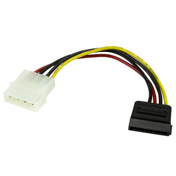 StarTech 15 cm 4-pins Molex naar SATA Voedingskabel Adapter