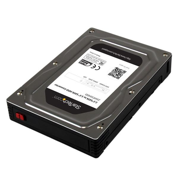 StarTech 2,5 naar 3,5 inch aluminium SATA-harde-schijfadapterbehuizing met SSD / HDD-hoogte van max.