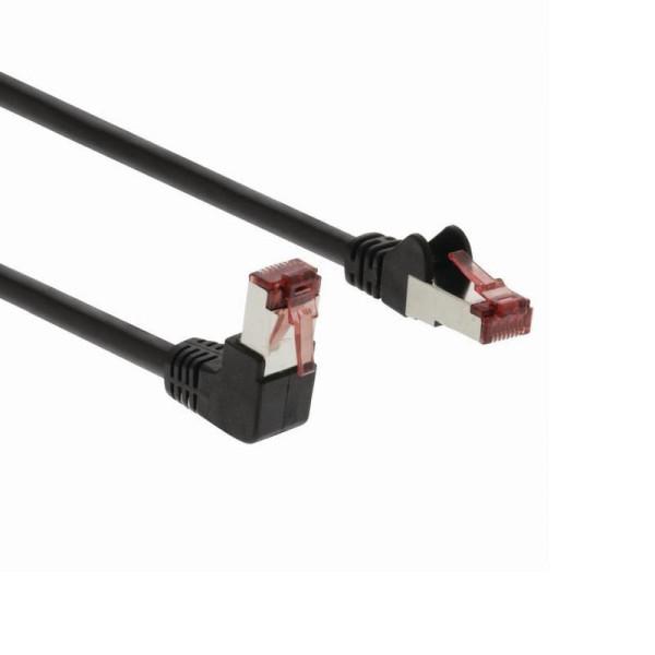 SF/UTP patchkabel netwerkkabel CAT6 haaks zwart 1m