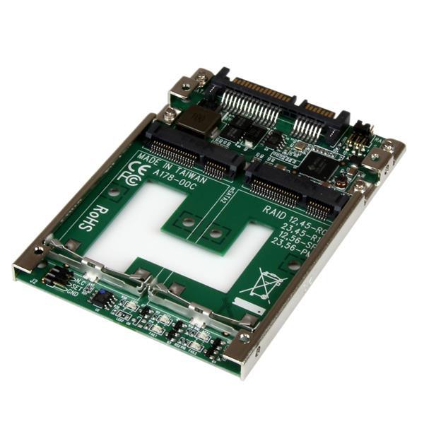StarTech Dubbele mSATA SSD naar 2,5 inch SATA RAID adapter / converter