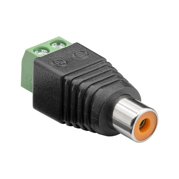 Schroefbare Mono Tulp (v) Connector - Zwart
