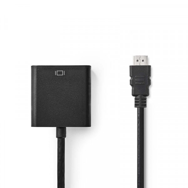 HDMI naar VGA adapter - Zwart - 0,2 meter