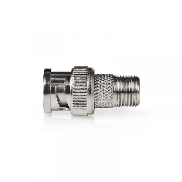 Antenne Adapter BNC Male - F-Connector Female Zilver