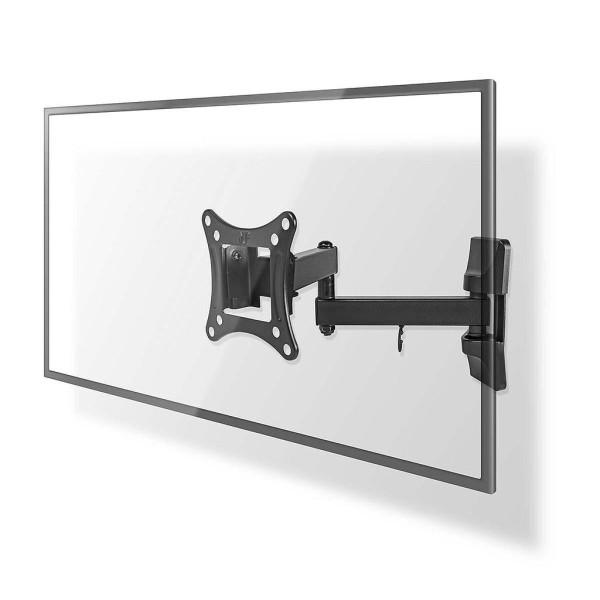 TV muurbeugel draai en kantelbaar 13 - 27 inch Max. 15 kg Zwenkbaar Zwart