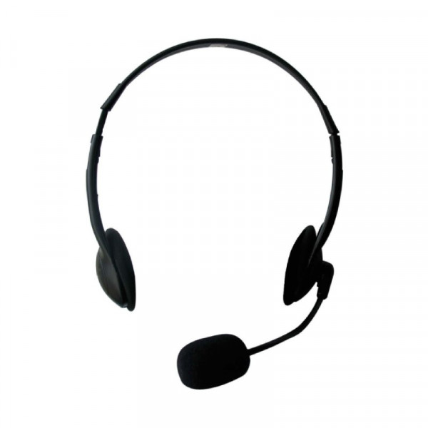 Headset 2 x 3,5mm jack 2,1m zwart
