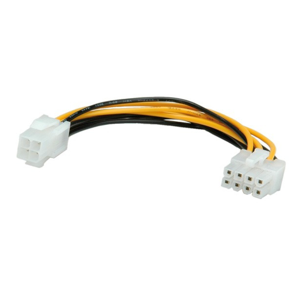 ROLINE Adapterkabel 8pins PCI-E naar 4pins connector 15cm