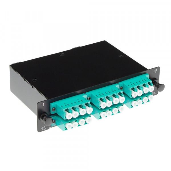 ACT Cassette 2x MTP - 24x LC OM3 quad aqua