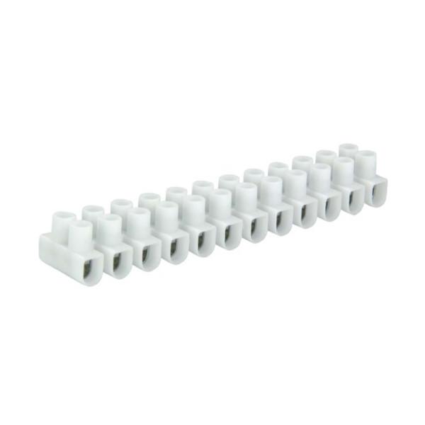Kroonsteen strip 6 - 16mm2 wit