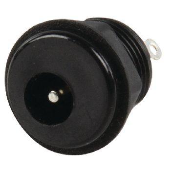 Stroomstekker Female PVC Zwart