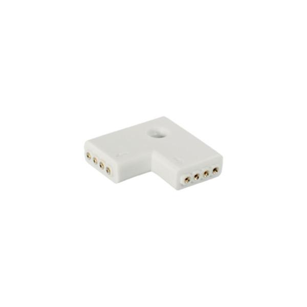 Haakse adapter voor 4-pins LED strips (set van 2)