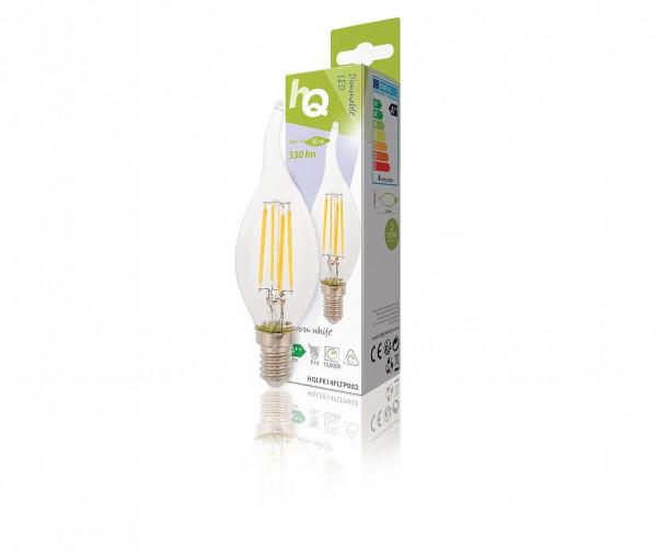 HQ dimbare retro filament LED vlamvormig 4W warm wit