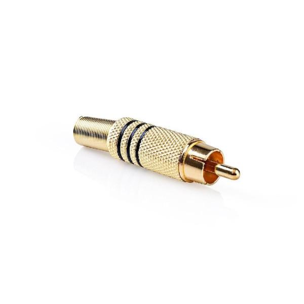 Soldeerbare Mono Tulp Connector (m) - Verguld - Zwart Accent