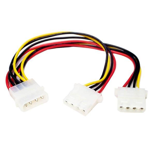 StarTech LP4 naar 2x LP4 Voedingskabel Y-adapter M/F