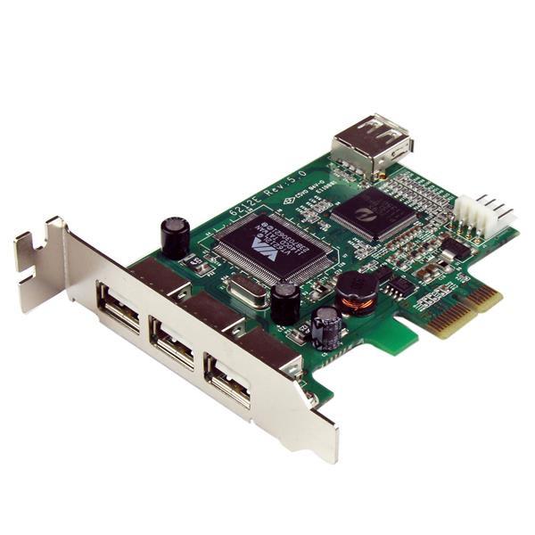 StarTech 4-poort PCI Express Low Profile High Speed USB-kaart