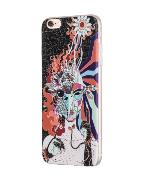 Hoco Mythology Firebird case voor iPhone 6 Plus/6S Plus Zwart