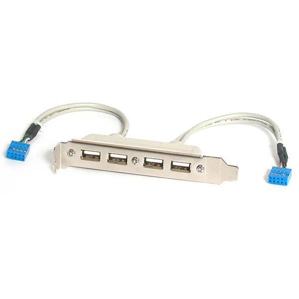 StarTech 4-poorts USB A vrouwelijke sleufplaatadapter