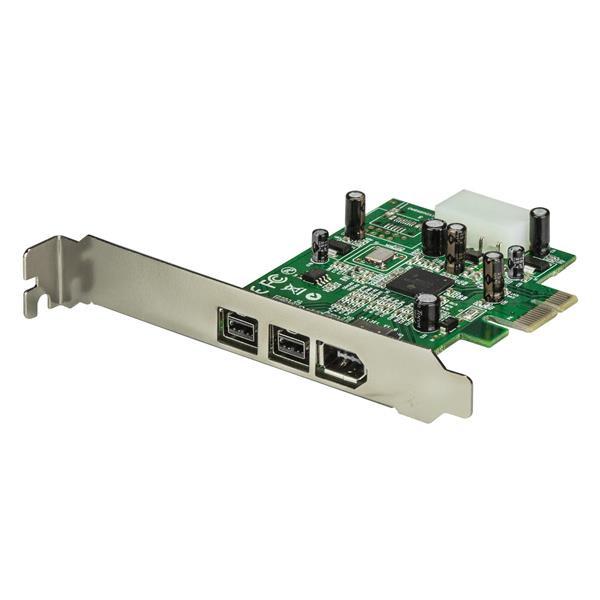 StarTech 3-poort 2b 1a 1394 PCI Express FireWire Adapterkaart
