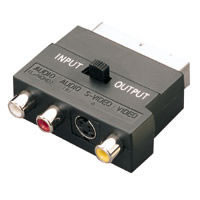 3 RCA Tulp + S-video - Scart Adapter