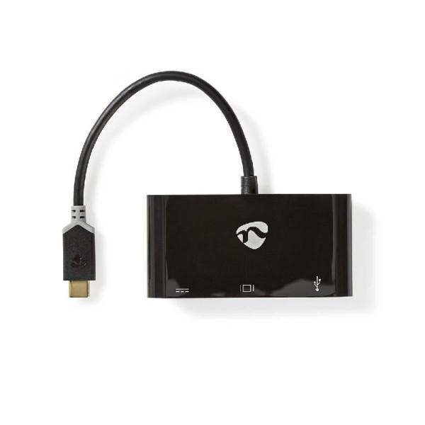 USB C - Multipoort VGA, USB C, USB A adapter