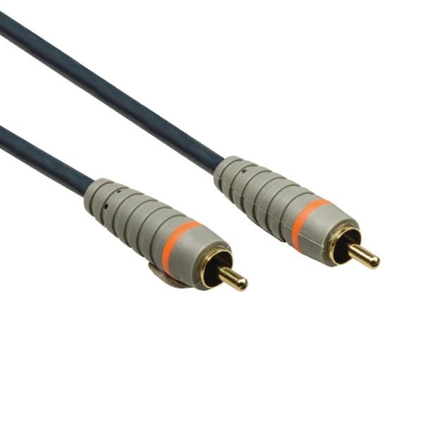 Bandridge Digitale Coax Audiokabel - Verguld - 0,5 meter - Zwart