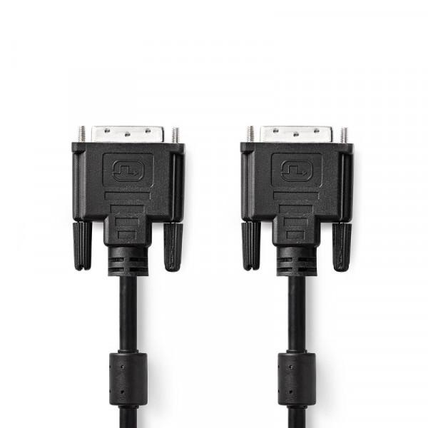 DVI-D Aansluitkabel - 24+1 - Dual Link - 15 meter - Zwart