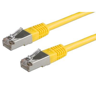 ROLINE FTP patchkabel Cat5e geel 0,5m