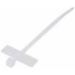 Kabelbinder / Tie-Wrap met label 20cm - 100st wit