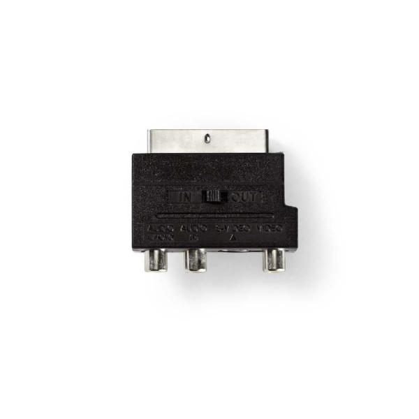 3xRCA Tulp - Scart Adapter